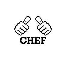 Chef thumbs Photographic Print
