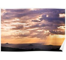 glass house mountains, queensland, australia Poster
