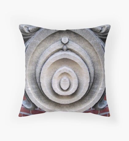 Statue Abstract Throw Pillow