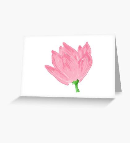 Dreams come true, lotus Greeting Card