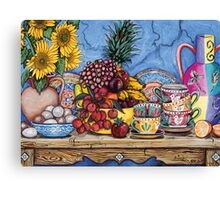 Rambutton, Eggs & Sunflower Canvas Print