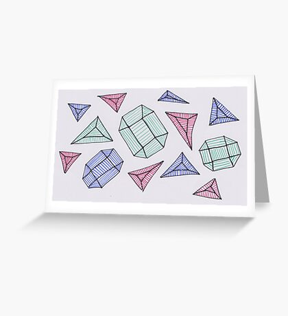 Scattered Gems Greeting Card