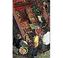 Grecian mobile greengrocer Photographic Print