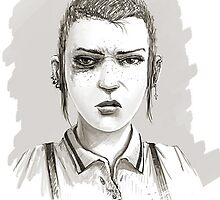 skinhead girl by ddezdammit