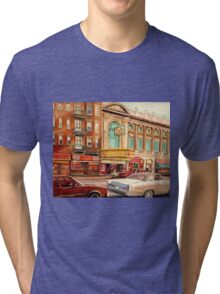 CANADIAN ART CANADIAN PAINTING FAMOUS MONTREAL RIALTO MOVIE THEATRE BY CANADIAN ARTIST CAROLE SPANDAU Tri-blend T-Shirt