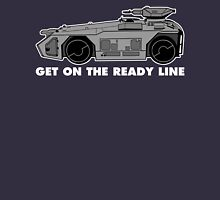 Get On The Ready Line (B&W) Unisex T-Shirt