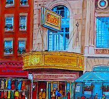 MOVIE THEATRE MONTREAL RIALTO CANADIAN ART CANADIAN PAINTINGS BY CANADIAN ARTIST CAROLE SPANDAU by Carole  Spandau