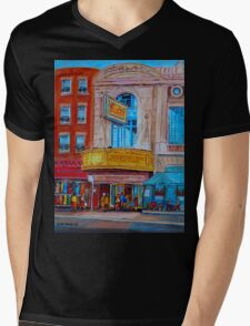 MOVIE THEATRE MONTREAL RIALTO CANADIAN ART CANADIAN PAINTINGS BY CANADIAN ARTIST CAROLE SPANDAU Mens V-Neck T-Shirt