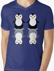 PENGUIN PAIR Mens V-Neck T-Shirt