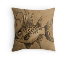 Great Expectations Sepia Throw Pillow