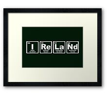 Ireland - Periodic Table Framed Print