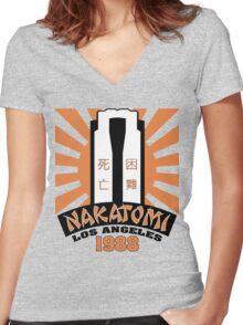 Nakatomi, 1988 Women's Fitted V-Neck T-Shirt