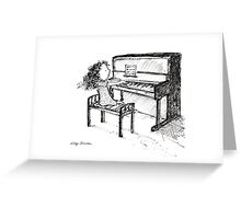 Piano Playing Greeting Card