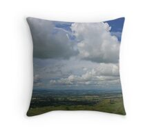 Walking on top of the World Throw Pillow