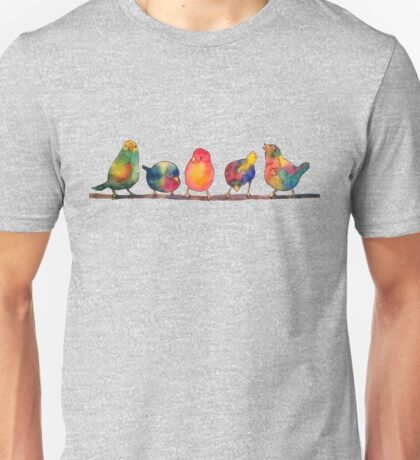 Sweet Watercolor Song Birds Unisex T-Shirt