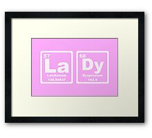 Lady - Periodic Table Framed Print