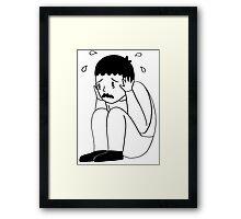 I'm Freaking Out - Black & White Framed Print