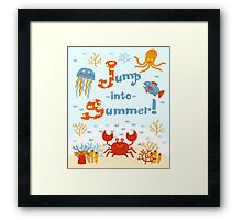 Jump into summer! Framed Print