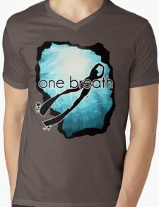 One breath: Freediving Mens V-Neck T-Shirt