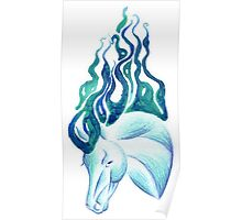 Marbled Water Horse Portrait Poster