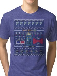 Who Christmas Sweater Tri-blend T-Shirt