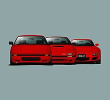 Mazda RX-7 Generations by m-arts