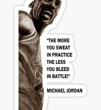 Michael Jordan - quote Sticker