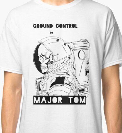 David Bowie Major Tom Astronaut Skeleton Classic T-Shirt