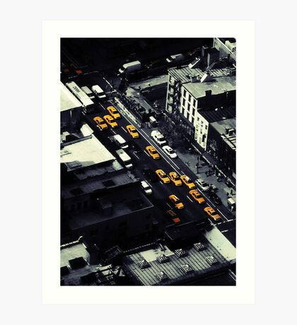 NYC Cabs Art Print