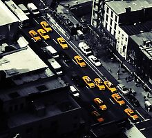 NYC Cabs by Adrian Richardson