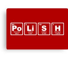 Polish - Periodic Table Canvas Print