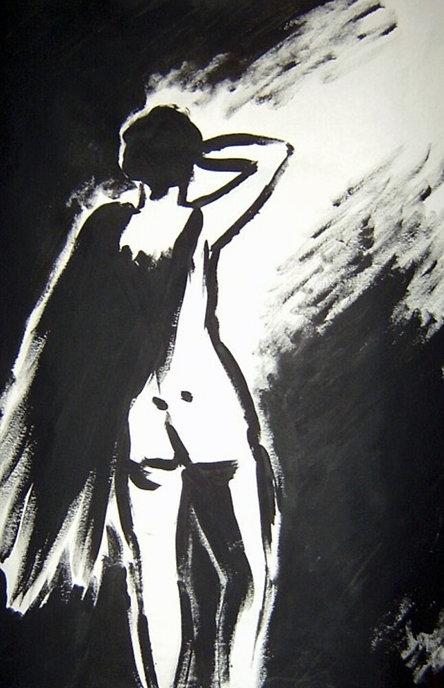 Naked man in Black and White by Frederick Sarran