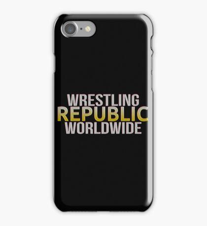 WRESTLING REPUBLIC iPhone Case/Skin