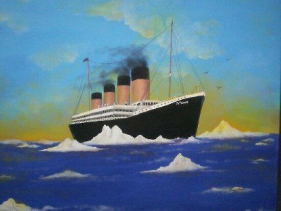 Titanics last voyage by heavenscent