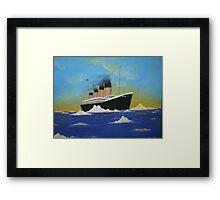 Titanics last voyage Framed Print