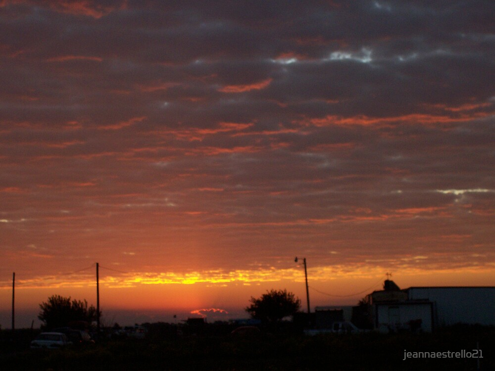 Red sunset, weather by jeannaestrello21