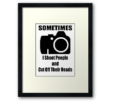 Sometimes Framed Print