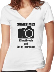 Sometimes Women's Fitted V-Neck T-Shirt