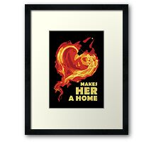 Love Makes Her A Home Framed Print