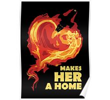 Love Makes Her A Home Poster