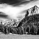 Dolomite Farm BW by martinilogic