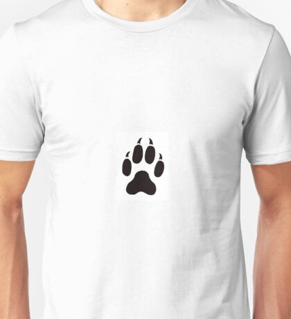 Big Cat Cougar Paw Print Unisex T-Shirt