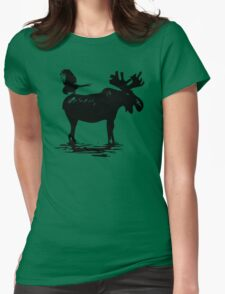 Moose Maintenance   Womens Fitted T-Shirt