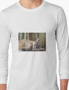Sleeping Kitty Long Sleeve T-Shirt