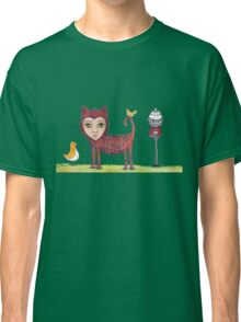 Cat Girl and the Spots Machine Classic T-Shirt