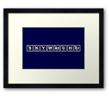 Skywatcher - Periodic Table Framed Print