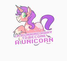 Running Away To Become a Unicorn Unisex T-Shirt