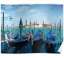 Gondolas Di San Marco Poster