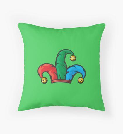 Joker Jester Clown Hat Design Throw Pillow