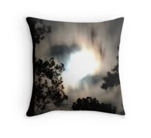 Clouded Night Throw Pillow